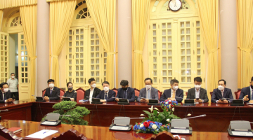 SAIGONTEL AND KOREA CORPORATIONS VISIT AND WORK AT VIETNAM GOVERNMENT OFFICE